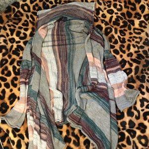 Full Tilt Striped Open Cardigan